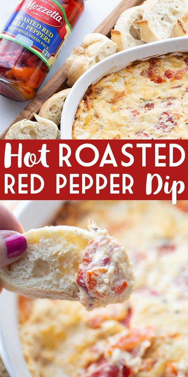 Hot Roasted Red Pepper Dip Half Scratched Recipe In 2020 Stuffed Peppers Food Stuffed Pepper Dip