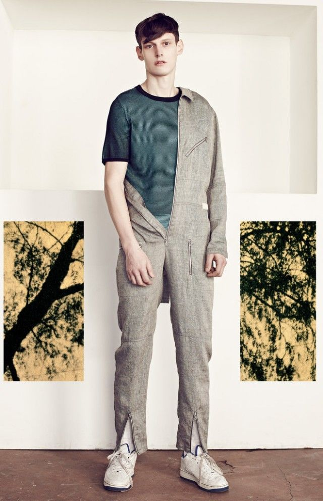 The Mens Jumpsuit! Adam Butcher for T Magazine Men's Jumpsuits–Are you brave enough to rock the jumpsuit? Adam Butcher is, but then again, he is a model. Adam stars in a trend's story entitled One-Piece Wonder for the latest edition of T magazine. Styled by fashion editor Jason Rider, Adam tackles the trendy jumpsuit with laid-back looks captured by photographer Arno Frugier. / Hair by Shina Arima.