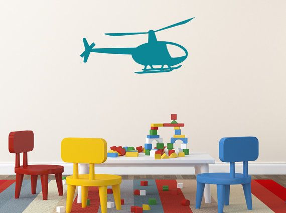Helicopter Childrens Bedroom Wall Sticker / by TheGraphixWall, £7.00