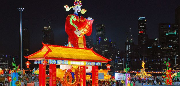 Chinese New Year in Singapore  is celebrated annually following lunar calendar. There are 75% of Chinese population in Singapore. Singapore has the highest concentration of Chinese apart from the main land