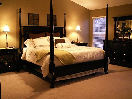 Our inspiration for our bedroom- color and painting our furniture black