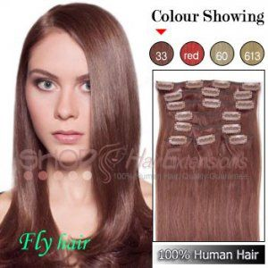 16 inch clip in hair extensions straight 33 rich copper