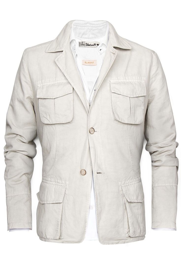 linen-cotton safari jacket