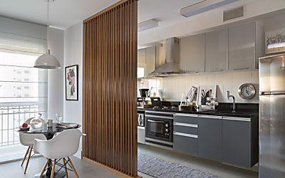 Divisões espertas em apartamento de 45 m²