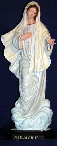 our lady of medjugorje statue - Google Search