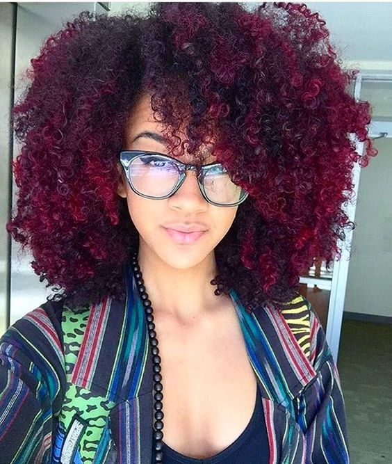 Natural Human Hair Red Curly Black Ombre Afros Wigs And