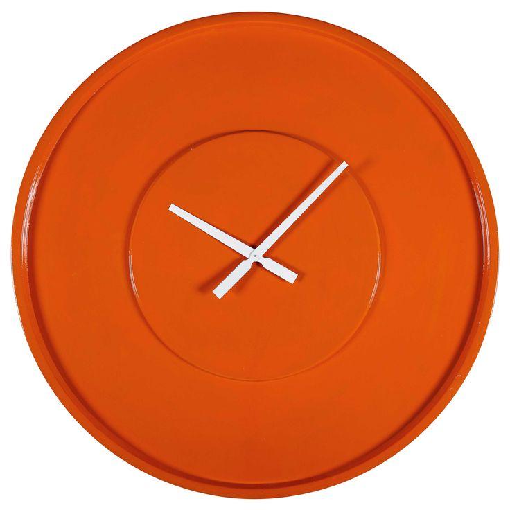 70S POP orange clock D 80 cm