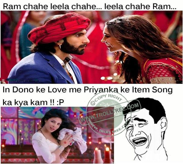 The #RamLeela Movie Jokes - TrollTree Share Funny Comments on #Bollywood Movies - http://www.trolltree.com/