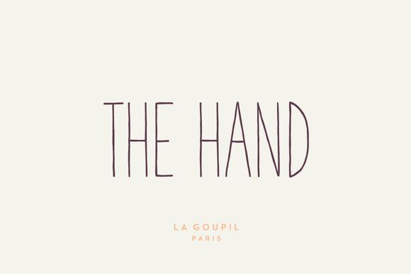 The Hand Font Pack by La Goupil Paris on Creative Market