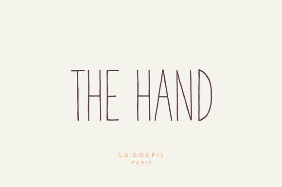 The Hand Font Pack by La Goupil Paris on Creative Market