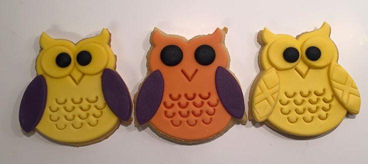 Cookies Vaniljekjeks Fondant Ugler