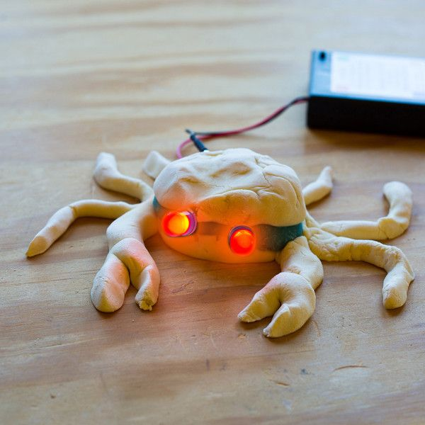 Squishy Circuits Kit - Mix up the dough and you're ready to go — lighting LEDs, making noise and running motors on whatever strikes your sculpting fancy