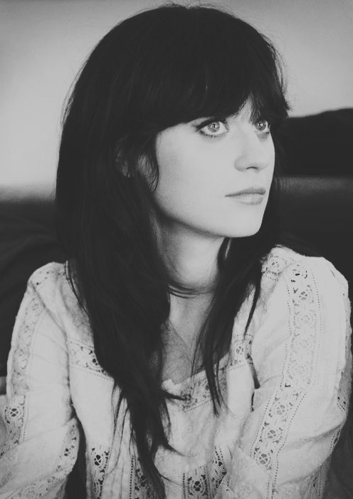 so pretty: Zoey Deschanel, Girls Crushes, Dark Hair, Style Icons, Blue Eye, Hair Style, New Girls, Zooeydeschanel, Zooey Deschanel