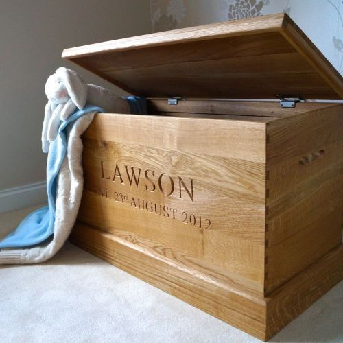 If you want a Ottoman or Toy box of the very finest quality – there is no equal.  Handcrafted from handpicked Prime A Grade oak, our personalised Toy Box is the perfect addition to any child's bedroom, nursery or lounge.we can offer beautiful 3D carved pictures or classic children's characters as well as personalisation.  Take full advantage of our Preview Service and bring your personal design and ideas to life. £495