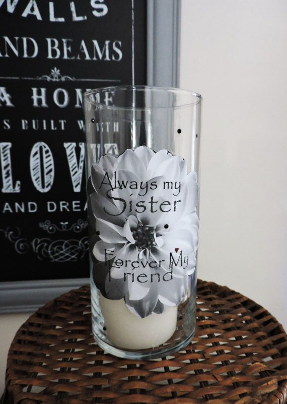 Sisters Candle Holder | Sister Gift | Sister Birthday Gift | Big Sister Gift | Little Sister Gift | Gifts for Sister | Sister Candle