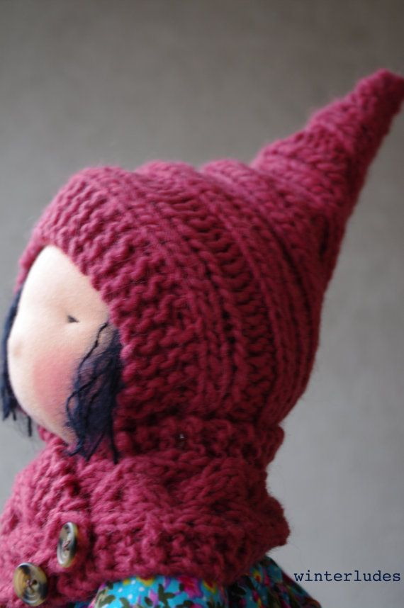 Knitting Pattern For A Dolls Hat : pdf pattern: pixie hat