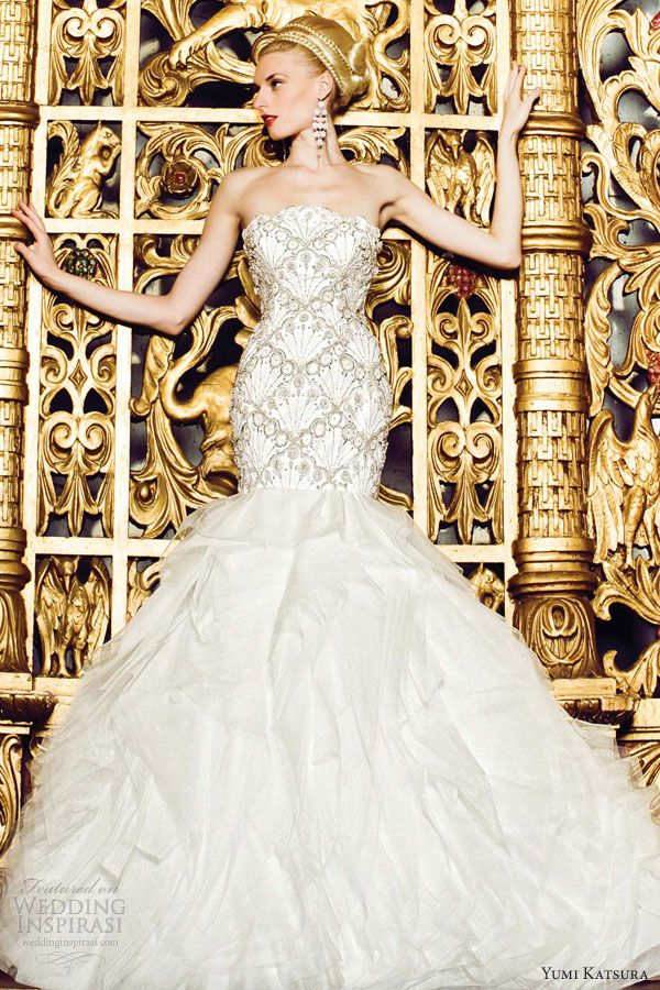 yumi katsura wedding dresses barcelona mermaid gown