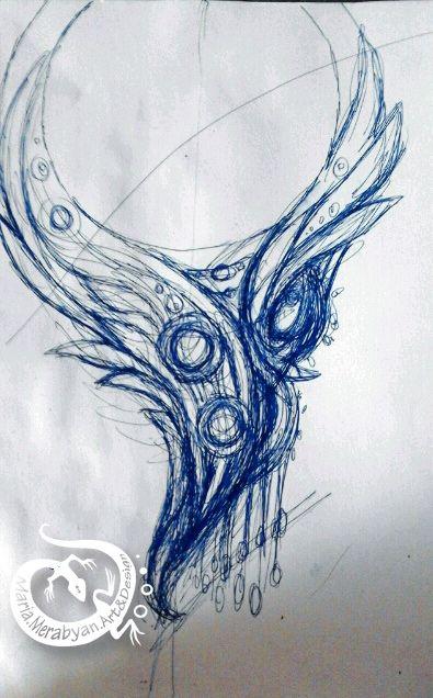 Maria Merabyan Art and Design: collar Las Alas - Trabajo en progreso Кoлье Крылья WIP» -1