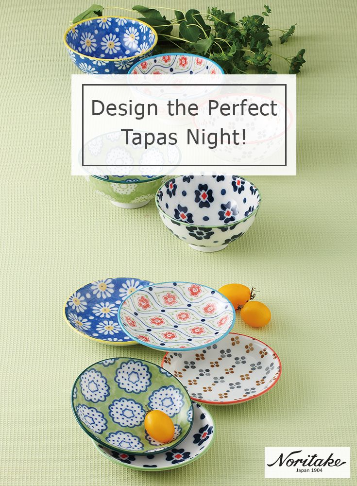 Design the perfect tapas night with Noritake's new Japanese Ceramics collection! Ideal for entertaining, each item boasts a vibrant colour palette to partner any dining table.