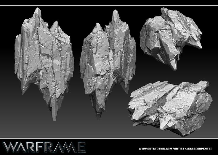 ArtStation - Rock Sculpt - Warframe, Jesse Carpenter