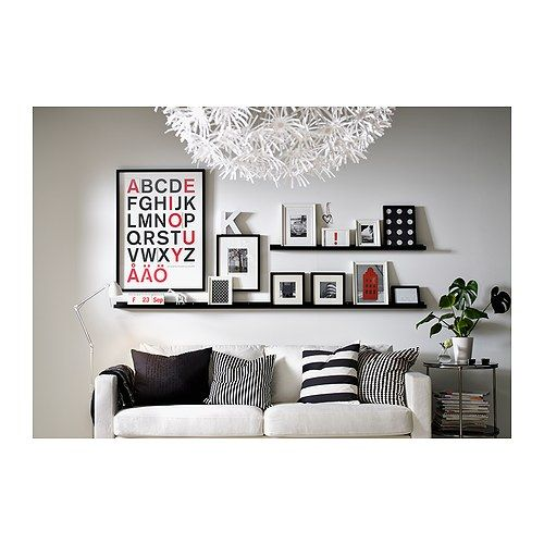 Picture Ledges for hallway from Ikea: Picture Ledge, Decor, Ideas, Living Rooms, Frames, Shelves, Pictures Ledge, Photo, Ikea