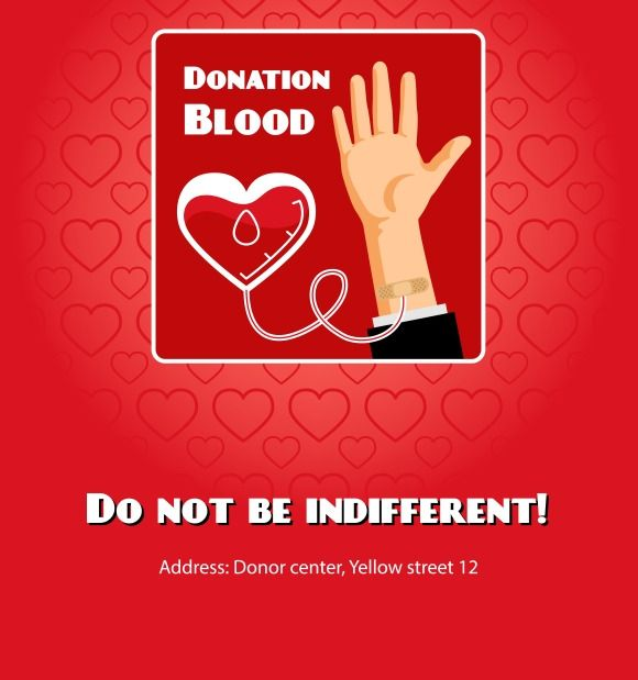 Blood donation poster by Microvector on Creative Market
