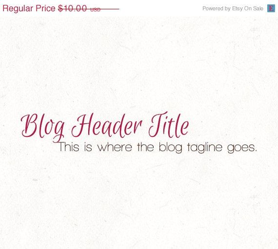 The 25 best blog header design ideas on pinterest blog headers blog header design template instant download by instantlogos pronofoot35fo Images