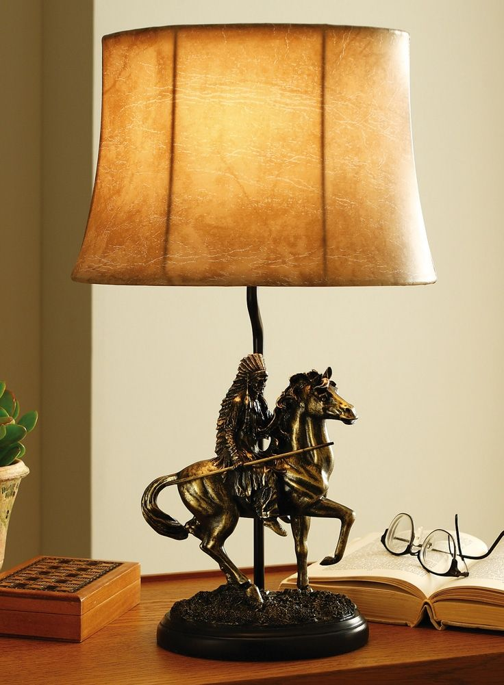 Native american decorative items native american table lamp indians pinterest products for Western table lamps living room