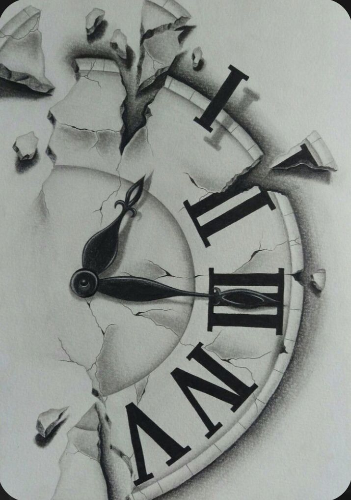 Pin By Savannah Alexus On Art In 2020 Clock Tattoo Design Clock Tattoo Clock Drawings