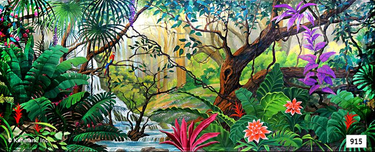 915D Jungle Paradise - Theatrical Backdrop Rentals by Kenmark
