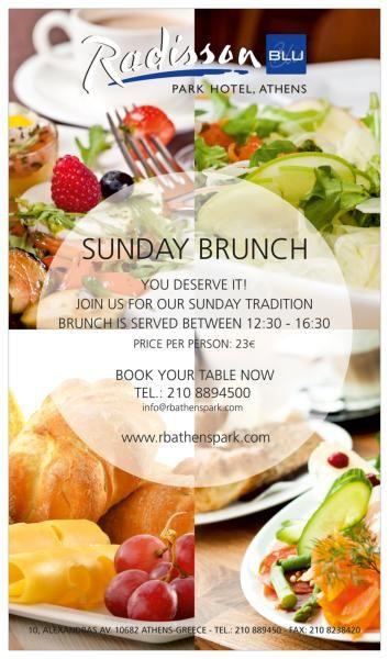 Sunday Brunch at Radisson Blu Park Hotel