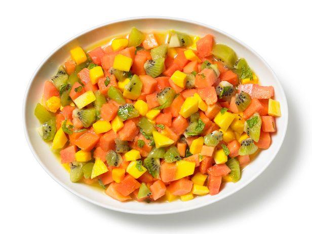 Tropical Fruit Salsa from #FNMag #Breakfast #Fruits #MyPlate: Food Network, Fruit Salad, For Kids, Than, Breakfast Fruit, Fruit Salsa Recipes, Aaron Sanchez, Healthy Recipes, Orange Juice