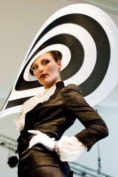Philip Treacy's catwalk show at Ascot (Vogue.com UK)