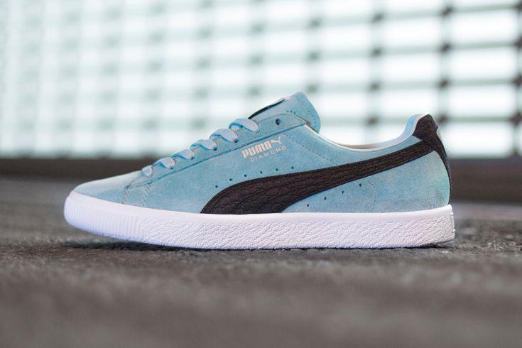 http://www.lamula.fr/diamond-supply-co-x-puma-puma-clyde-tiffany-aqua-blue/  #sneakers #puma #pumaclyde