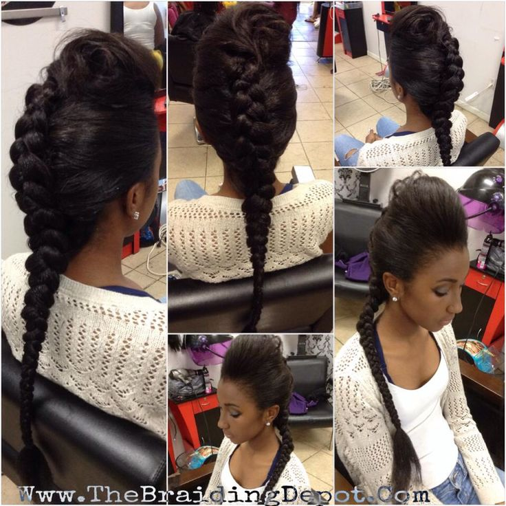 Two Double Dutch French Braid Cornrow Pigtails With Clip In Extensions You
