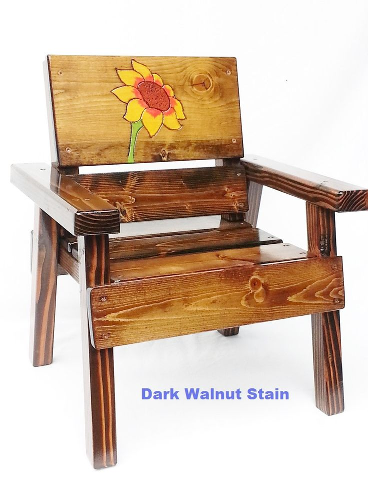 Childrens Solid Wood Chair, 1st Birthday Gift Girl, Kids Outdoor Patio  Furniture, Baby