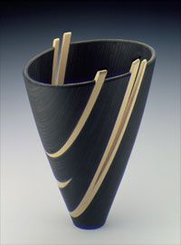 Virginia Dotson, Night Music, 1995. Maple and birch. Courtesy Mint Museum