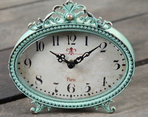 Vintage Inspired Pewter Clock with a Great French Cottage Look! - Marmalade Mercantile