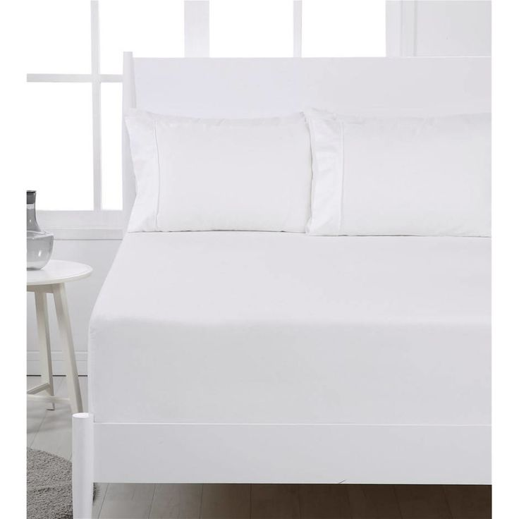 Dreamaker Easy Care 250TC Fitted Sheet Set SB White