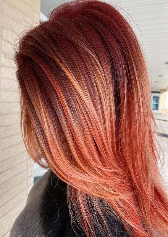 Awesome Copper Balayage Hair Color Trends For Women In 2020 In
