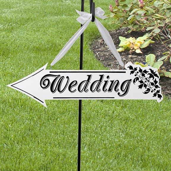 Wedding Arrow Direction Sign (double-sided)