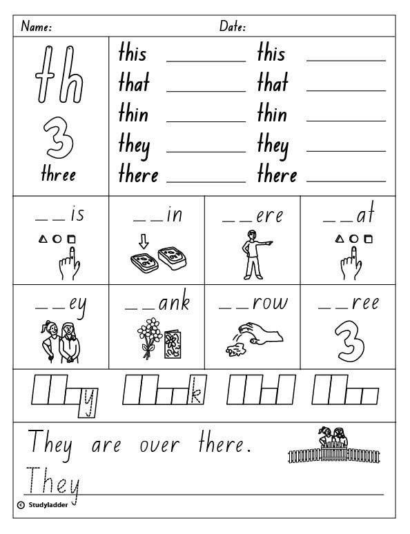Th sound Worksheets Kindergarten Th Worksheets for ...