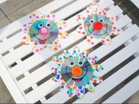 Sparkling CD Flowers Upcycling, Basteln mit Kindern – YouTube