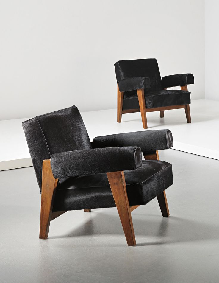 PHILLIPS : UK050114, Le Corbusier and Pierre Jeanneret, Pair of armchairs, model no. LC/PJ-SI-42-A/B, designed for the High Court and Assembly, Chandigarh