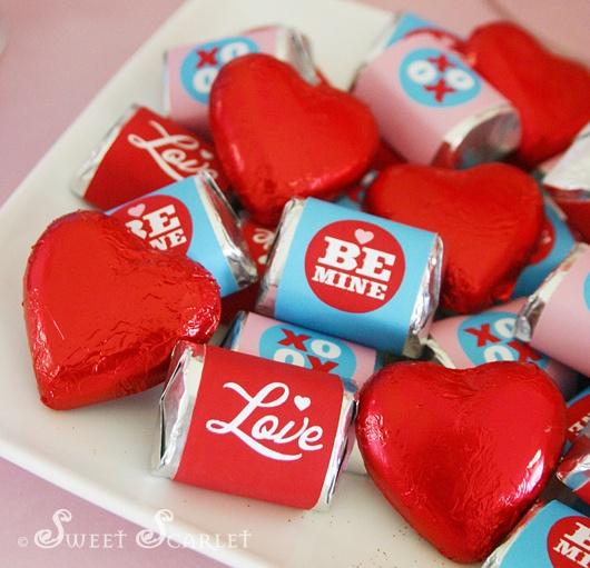 Valentine's Printable Mini Choc Wrappers  #valentines #printable
