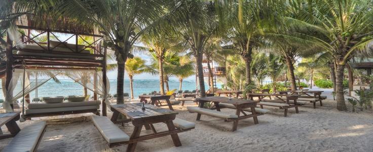 Beach BBQ. El Dorado Seaside Suites by Karisma. Riviera Maya Mexico