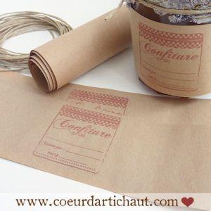 Le blog de Coeur d'artichaut. Pour les amoureux du fait-maison et DIY addicts » Tampons transparents et étiquettes à confiture, comment fair...