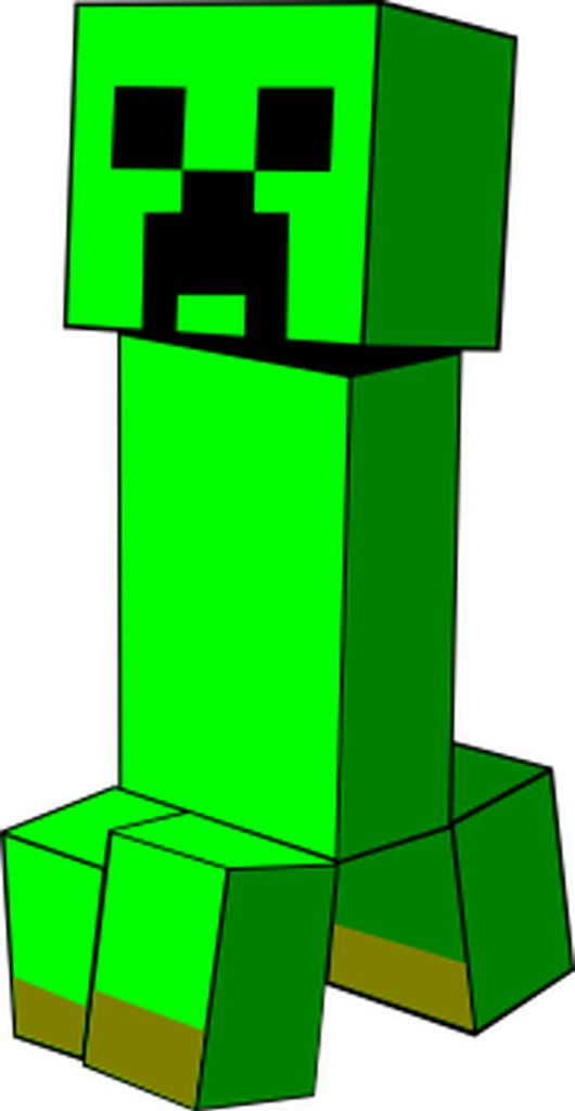 A Creeper from Minecraft! * BOOM * This SVG will blow up your craft projects!