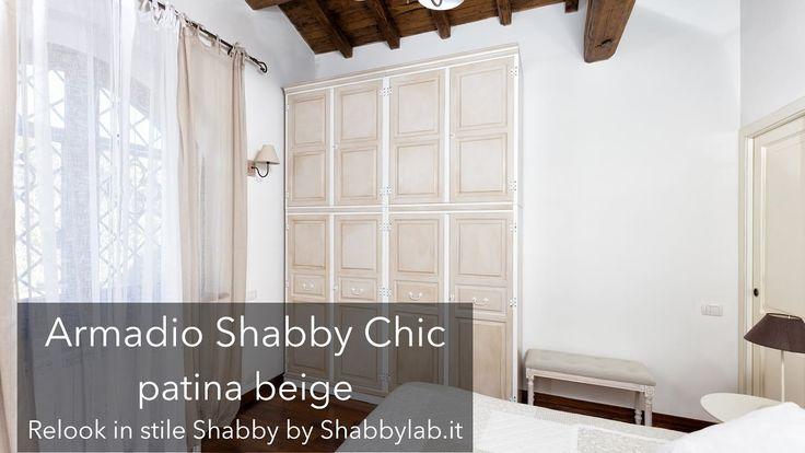 Armadio shabby chic patina beige