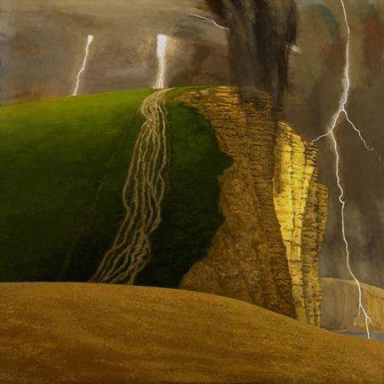 David Inshaw - Storm At West Bay